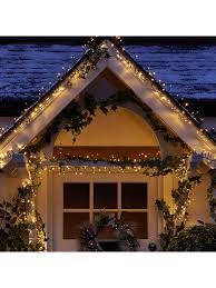 Outdoor Cluster Christmas Lights 1000 Multi Function Warm White Indoor Outdoor Cluster