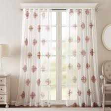ay massa embroidered sheer window curtain panel free on orders over 45 com 18410748