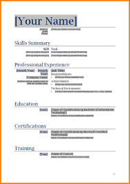 9 Blank Resume Template Doc Cashier Resumes