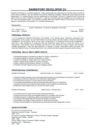 sharepoint developer resume sharepoint developer responsibilities junior developer resume