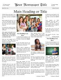 Three Column Newsletter Template School Newspaper Print Publish And Design Headquarters