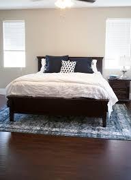 rug under queen bed rug under queen bed what size rug under queen bed