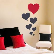 on wall art heart designs with heart bubbles wall art decal