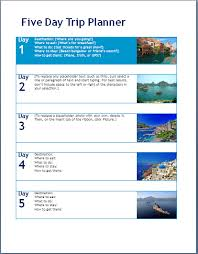 trip planner templates dorable travel planner template word image collection resume ideas