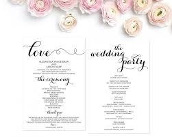 Ceremony Template Wedding Program Template Wedding Programs Ceremony Program