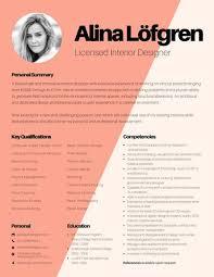 creative interior designer resume cute resume templates