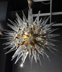 exceptional huge murano glass metal and brass chandelier in the style of stilnovo ca