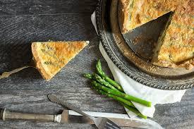 asparagus quiche with ranchero queso