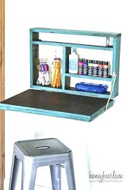 fold down table wall mounted desk plans out diy folding collapsible moun