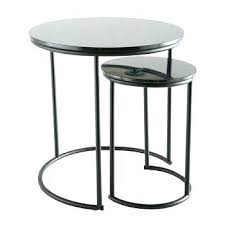 end tables black nesting end tables 2 marble blush charcoal wood