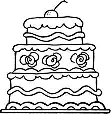 Small Picture worksheet of elegant three tiered wedding cake Coloring Point