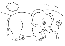 Small Picture Free Printable Elephant Colorin Beautiful Cute Elephant Coloring
