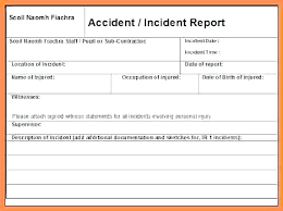 Accident Report Forms Template Incident And Form Vehicle Yakult Co