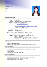 Resume Format For Job Application Abroad Augustais