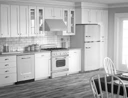 Kitchen With White Cabinets Kitchen All White Kitchen Minimalist White Floating Cabinets In