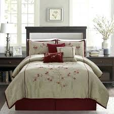 collection red cherry blossom fl embroidery comforter set king n natori multi cotton