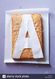 Letter A Template A Cake With A Template Of The Letter A Stock Photo 88247080 Alamy