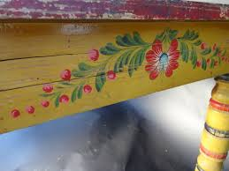 mexican painted furnitureMexican Painted Dining Table 1930s F1093  Early California Antiques