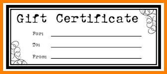 certificate template pages gift certificate template pages business template