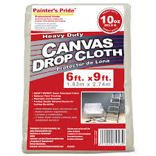 painter s pride 10 oz canvas drop cloth common 6 ft x 9