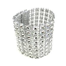pack gold silver 8 rows diamond mesh rhinestone bow covers holders wedding napkin rings diy decorations table decor craft engagement ring napkin rings