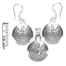 life maze sterling silver pendant