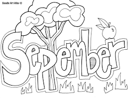 September Month Coloring Pages For Kids