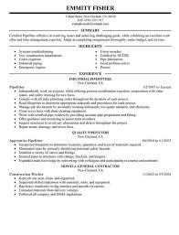 Resume Sample For Pipefitter - http://resumesdesign.com/resume-sample