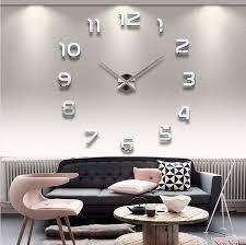 2016 new clock watch wall clocks horloge 3d diy acrylic mirror stickers home decoration living room quartz needle free home decor lab your home