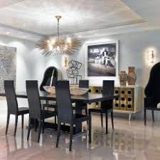 art for the dining room.  Room Art Deco Dining Room With Black Chairs For The