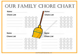 Free Printable Chore Charts For Multiple Children Family