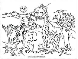 Forest Animal Coloring Page Coloring Page Animals Zoo Scene Coloring Pages Zoo Coloring Page Zoo