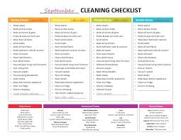 Cleaning Checklist For Housekeeper Template Rsenterprises Co