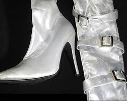 hooker boots. Simple Hooker Silver Stiletto SpaceAge Pretty Woman Boots With Hooker O