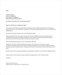 faculty letter of recommendation faculty promotion letter of recommendation sample