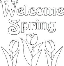Spring Coloring Pages Free Printable Spring Coloring Page Flower