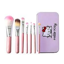 details of o kitty 7 pcs mini makeup brush set