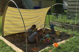 diy outdoor canopy making the arches