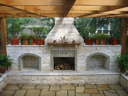 style of outdoor fireplaces