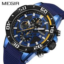 MEGIR <b>Fashion Sport Men Watch</b> Relogio Masculino Brand Silicone ...