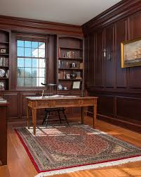 office paneling. georgian paneling home office traditional with black comb back chair shelf wall unit bookcases