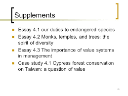 conservation values and ethics auml iquest egrave sup ccedil aring sup aring frac egrave aring ccedil ppt supplements essay 4 1 our duties to endangered species