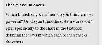 Solved Checks And Balances Which Branch Of Government Do