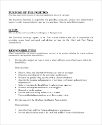 Secretary Job Description Resumes | Template