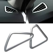<b>2PCs Car Styling ABS</b> Chrome Air Condition Vent Cover Sticker
