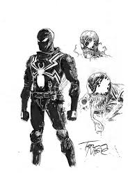 Small Picture Agent Venom Flash Thompson character designs concept art by