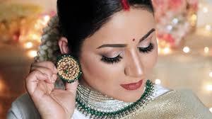 deepika padukone bangalore reception look indian bridal makeup tutorial