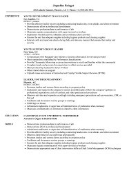 Group Leader Resume Example Youth Leader Resume Samples Velvet Jobs 15