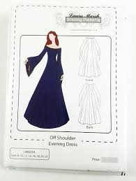Medieval Dress Patterns Delectable Off Should EveningMedieval Dress Sewing Pattern Sizes 4848 NEW