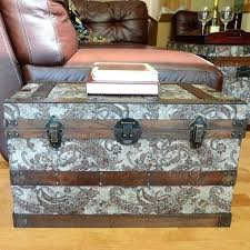 this beautiful wood trunk features old fashioned hardware for an antique look decorative treasure chest is 2 of 4 wooden pirate treasure chest decorative
